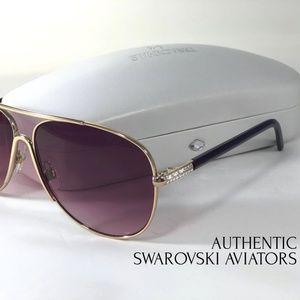 Authentic Swarovski Aviator  Sunglasses Eyewear